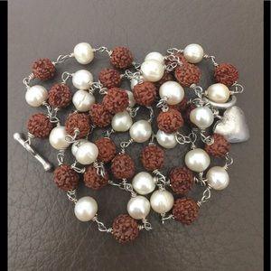 Jewelry - Beautiful Combination Rudraksha Pearl Necklace